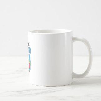 FEEL THE RUSH CLASSIC WHITE COFFEE MUG
