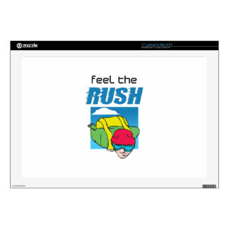 """FEEL THE RUSH 17"""" LAPTOP DECAL"""