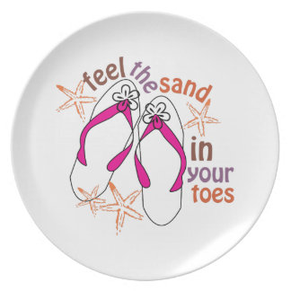 Feel The Sand In Your Toes Party Plate