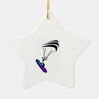 FEEL THE WIND Double-Sided STAR CERAMIC CHRISTMAS ORNAMENT