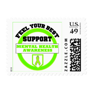 """Feel Your Best Mental Health Awareness"" Postage"