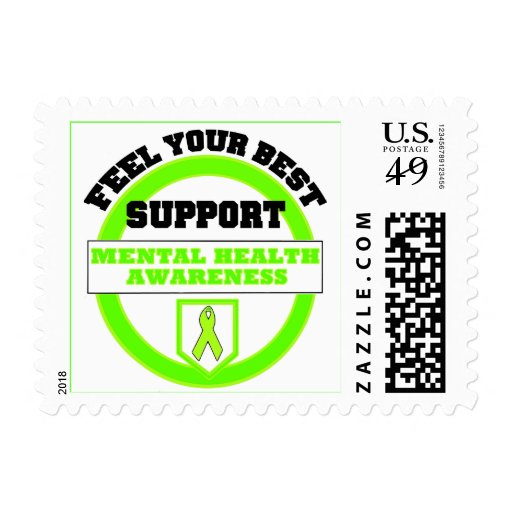 """Feel Your Best Mental Health Awareness"" Postage"