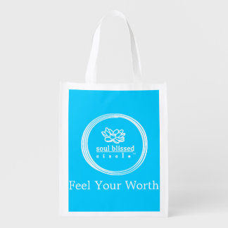 Feel Your Worth Reusable Bag Market Tote