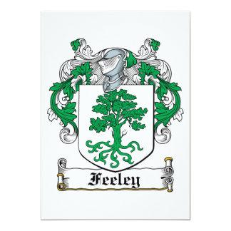 "Feeley Family Crest 5"" X 7"" Invitation Card"