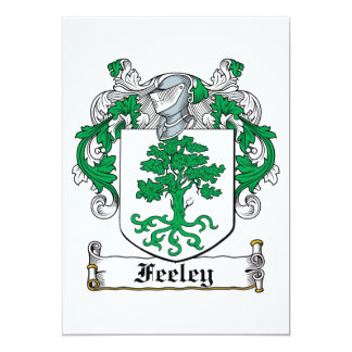 Feeley Family Crest Personalized Invitation