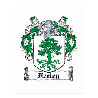 Feeley Family Crest Postcard