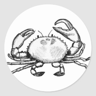 Feelin' Crabby Classic Round Sticker