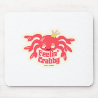 Feelin Crabby Cute Crab Mouse Pad
