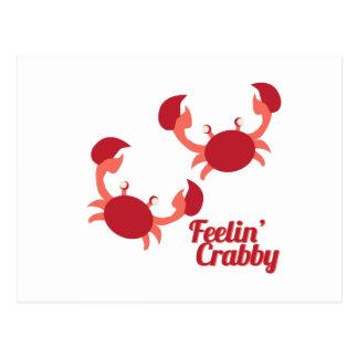 Feelin' Crabby Postcard