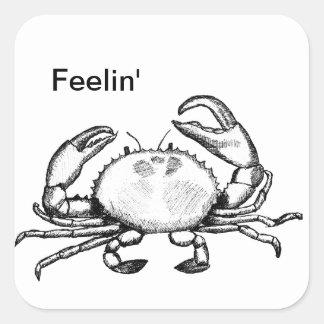 Feelin' Crabby Square Sticker