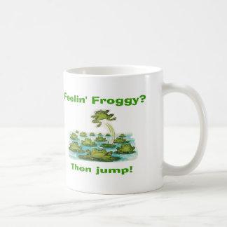 feelin froggy coffee mug