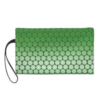 Feelin' Green - Dot Pattern Wristlet