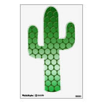 Feelin' Green - Dot Pattern Cactus Wall Sticker
