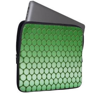 Feelin' Green - Dot Pattern Laptop Sleeve
