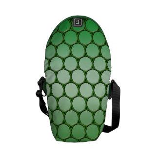 Feelin' Green - Dot Pattern Courier Bags