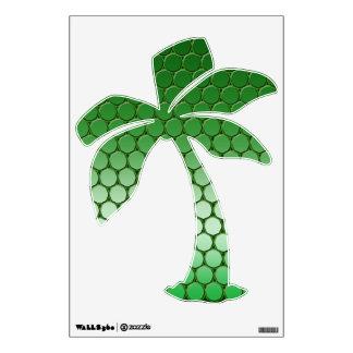 Feelin' Green - Dot Pattern Palm Tree Wall Decal