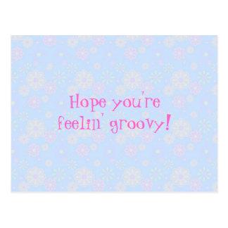 Feelin' Groovy Flower Child Postcard