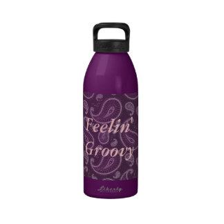 Feelin' Groovy Purple Paisley Water Bottle