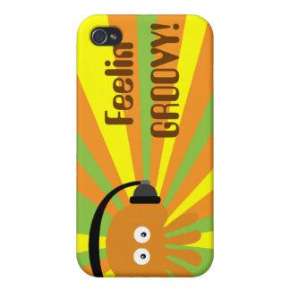Feelin GROOVY Retro Jellyfish DJ Psychedelic iPhone 4/4S Cases