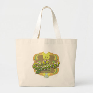 Feelin Groovy Seventies Style Large Tote Bag