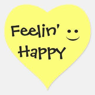 Feelin' Happy Smile Heart Sticker