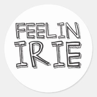 Feelin Irie Pegatina Redonda