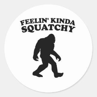 Feelin' Kinda Squatchy Classic Round Sticker