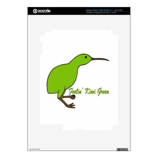 Feelin' Kiwi Green iPad 3 Skin
