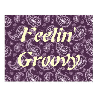 Feelin Paisley púrpura maravillosa Tarjeta Postal