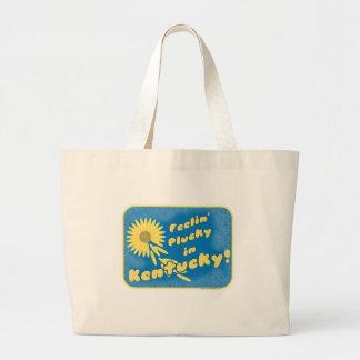 Feelin Plucky in Kenticky Large Tote Bag