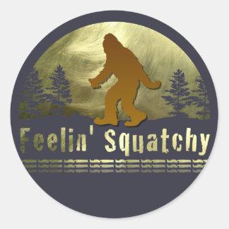Feelin' Squatchy Classic Round Sticker