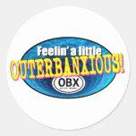 Feelin un pequeño OBX Etiqueta Redonda