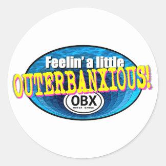 Feelin un pequeño OBX Pegatina Redonda