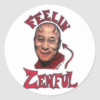 Feelin Zenful Pegatina Redonda