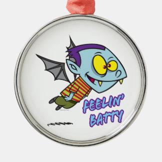 feeling batty funny vampire kid toon metal ornament