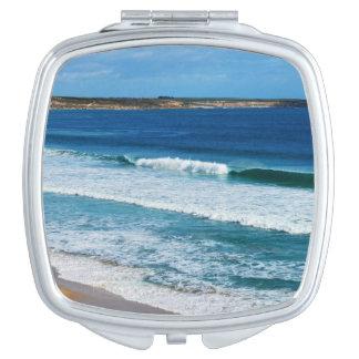 Feeling_Beachy_5_Ladies_Square_Compact-Mirror. Espejos De Viaje