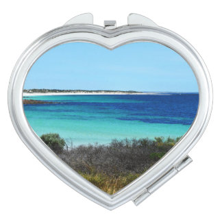 Feeling_Beachy, _6, _Heart_Compact-Mirror. Espejos De Maquillaje