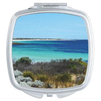 Feeling_Beachy, _6, _Square_Compact-Mirror. Espejo De Viaje