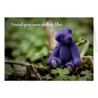 Feeling Blue Bear Greeting Card