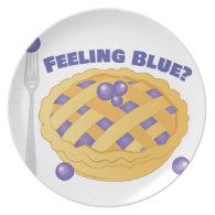 Feeling Blue Dinner Plate