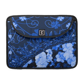 Feeling Blue Floral & Glitter MacBook Pro Sleeve