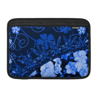 Feeling Blue Floral & Glitter MacBook Sleeves