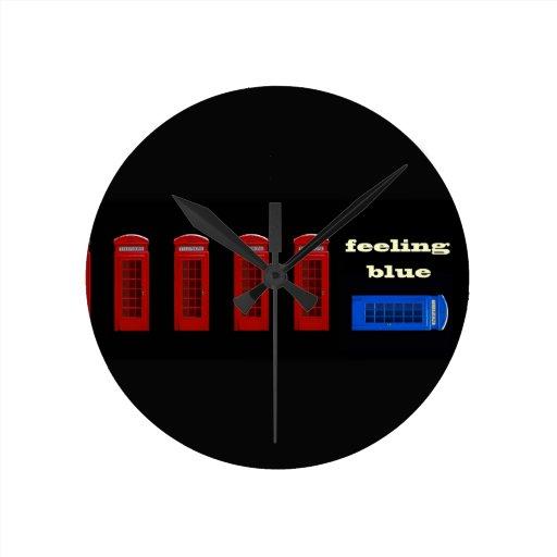 Feeling Blue London England Wall Clocks