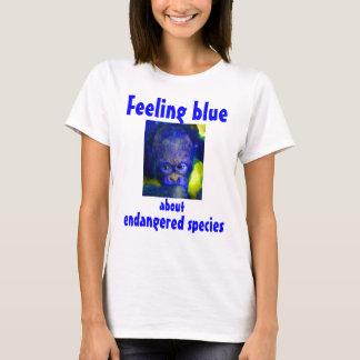 Feeling Blue Orangutan Red Ape T-Shirt
