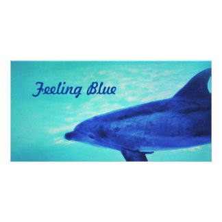 Feeling Blue Photo Card