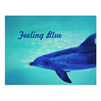 Feeling Blue Postcard