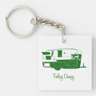 Feeling Campy keychain Square Acrylic Key Chains