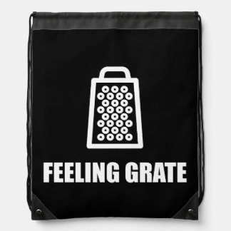Feeling Cheese Grater Drawstring Backpack