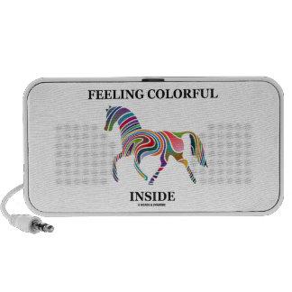Feeling Colorful Inside (Horse Color Swirl) Travel Speakers