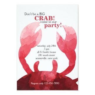 Feeling Crabby Invitation
